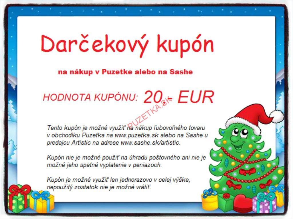 Darčekový kupón 20 Eur 9daec4eb487
