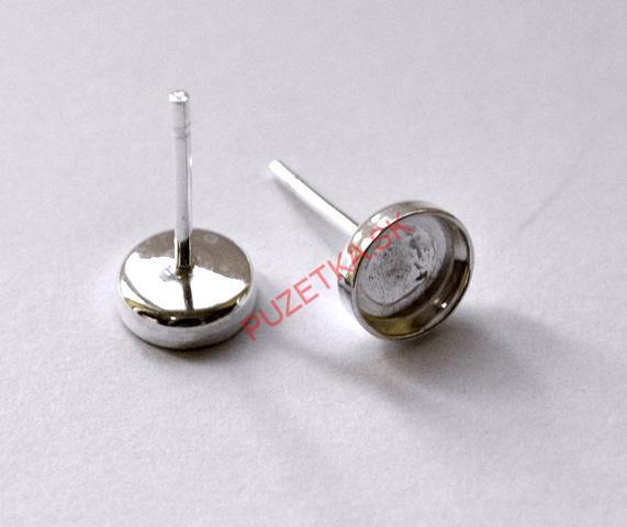 20c639ed2 Puzety - lôžko zo striebra Ag 925, 6 mm - 1 pár